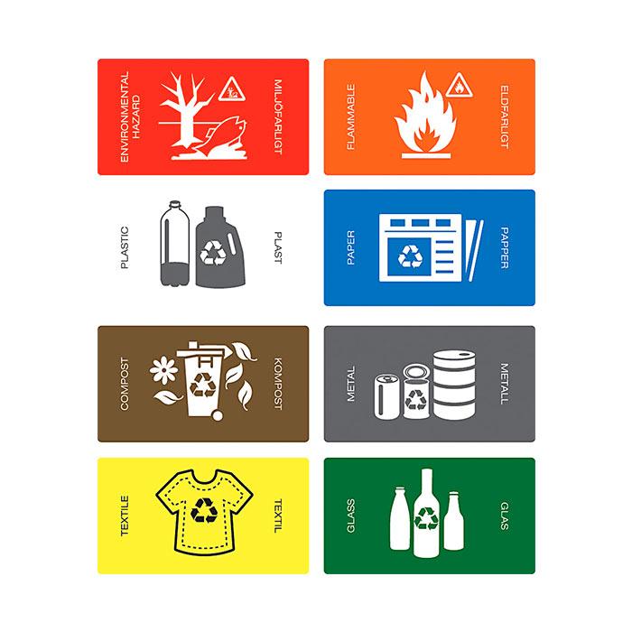 Klistremerker For Deponi/avfall